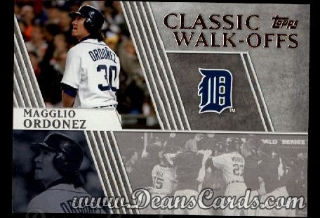 2012 Topps Classic Walk-Offs Inserts #11 CW  -  Magglio Ordonez 10/14/2006