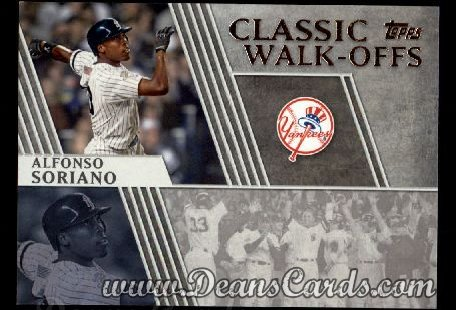 2012 Topps Classic Walk-Offs Inserts #8 CW  -  Alfonso Soriano 10/21/2001