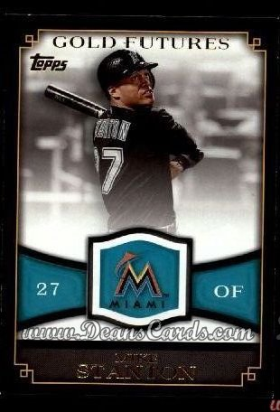 2012 Topps Gold Futures Inserts #14 GF  -  Mike Stanton Gold Futures