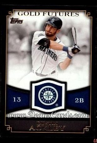 2012 Topps Gold Futures Inserts #6 GF  -  Dustin Ackley Gold Futures