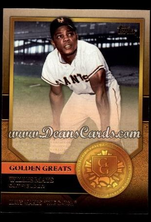 2012 Topps Golden Greats #11   -  Willie Mays Mays Makes The Catch
