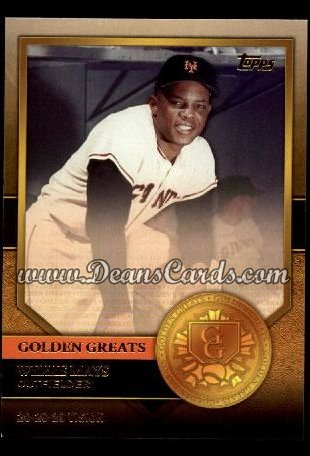 2012 Topps Golden Greats #12   -  Willie Mays 20-20-20 Vision