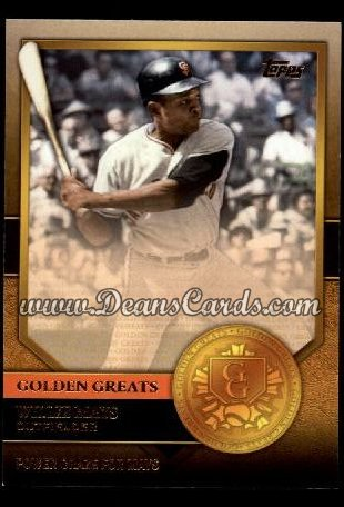 2012 Topps Golden Greats #13   -  Willie Mays Power Craze For Mays