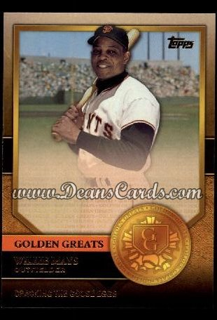 2012 Topps Golden Greats #15   -  Willie Mays Cracking The Goose Eggs