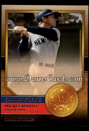 2012 Topps Golden Greats #33   -  Mickey Mantle Breaking Through