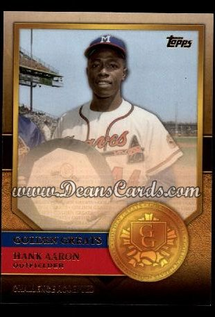 2012 Topps Golden Greats #54   -  Hank Aaron Challenege Accepted