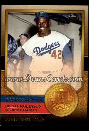 2012 Topps Golden Greats #61   -  Jackie Robinson Jackie Jibes With Jersey