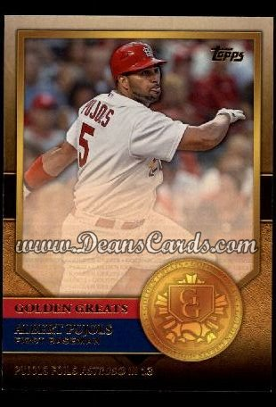 2012 Topps Golden Greats #68   -  Albert Pujols Pujols Foils Astros In 13