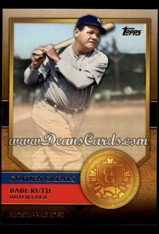 2012 Topps Golden Greats #72   -  Babe Ruth Not Stopping At 50