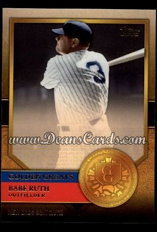 2012 Topps Golden Greats #73   -  Babe Ruth New Digs Suit Ruth