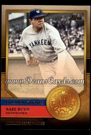 2012 Topps Golden Greats #75   -  Babe Ruth Ultimate Performance