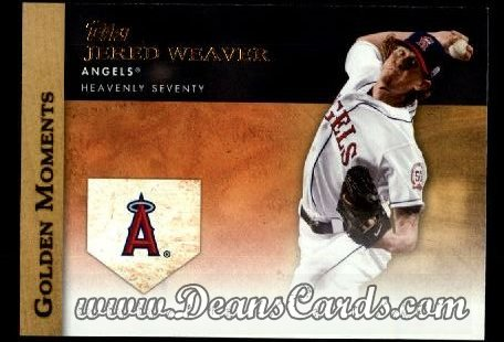 2012 Topps Golden Moments Series 1 #17 GM  -  Jered Weaver Heavenly Seventy