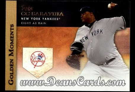 2012 Topps Golden Moments Series 1 #31 GM  -  C.C. Sabathia Right As Rain