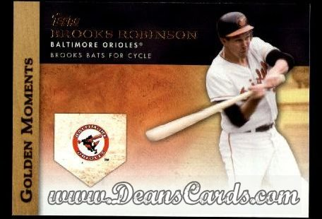 2012 Topps Golden Moments Series 1 #34 GM  -  Brooks Robinson Brooks Bats For Cycle