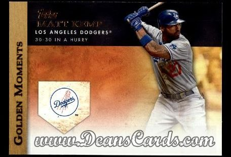 2012 Topps Golden Moments Series 1 #38 GM  -  Matt Kemp 30-30 In A Hurry