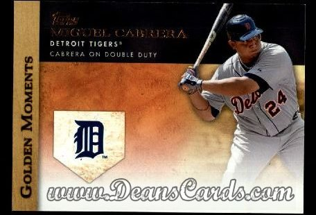 2012 Topps Golden Moments Series 1 #40 GM  -  Miguel Cabrera Cabrera On Double Duty