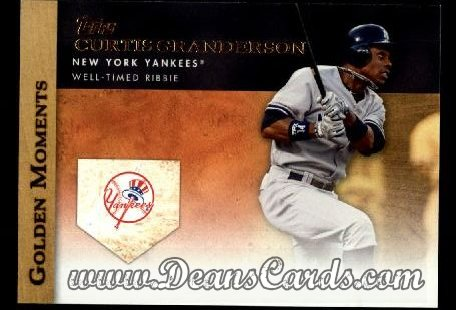 2012 Topps Golden Moments Series 1 #43 GM  -  Curtis Granderson Well-Timed Ribbie