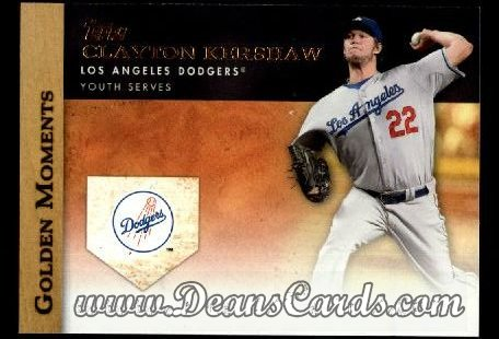 2012 Topps Golden Moments Series 1 #7 GM  -  Clayton Kershaw Youth Serves