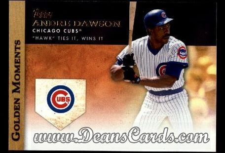 2012 Topps Golden Moments Series 1 #8 GM  -  Andre Dawson Hawk Ties It Wins It