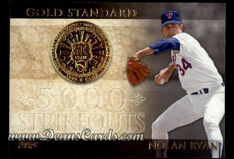 2012 Topps Gold Standard #1 GS  -  Nolan Ryan 5,000 K Club