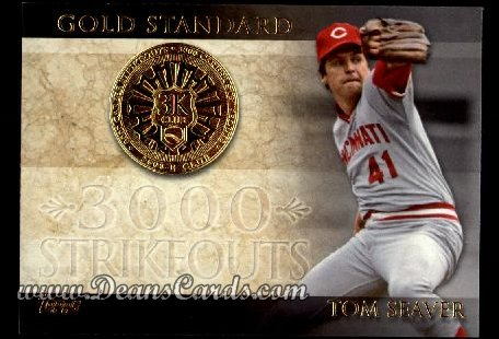 2012 Topps Gold Standard Inserts #11 GS  -  Tom Seaver 3000 K Club