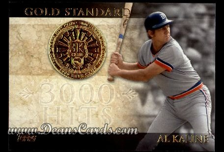 2012 Topps Gold Standard Inserts #12 GS  -  Al Kaline 3,000 Hit Club