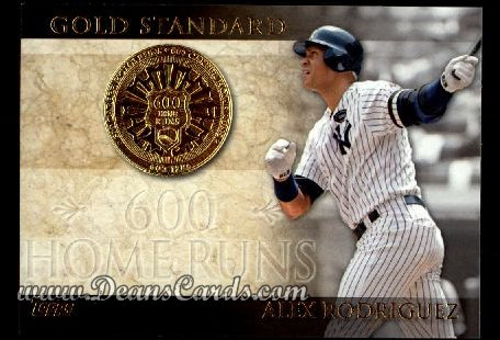 2012 Topps Gold Standard Inserts #13 GS  -  Alex Rodriguez 600 Home Runs
