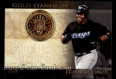 2012 Topps Gold Standard Inserts #14 GS  -  Frank Thomas 500 Home Runs