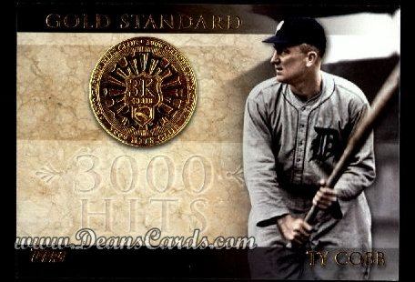 2012 Topps Gold Standard Inserts #15 GS  -  Ty Cobb 3,000 Hit Club