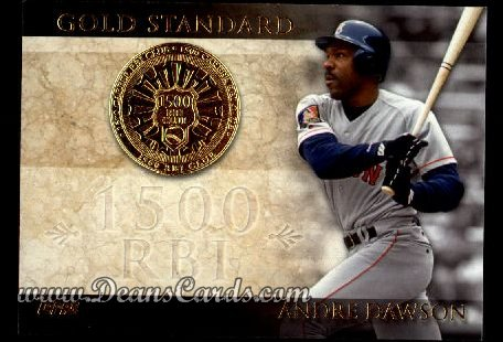 2012 Topps Gold Standard #19 GS  -  Andre Dawson 1,500 RBI Club