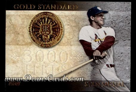 2012 Topps Gold Standard Inserts #2 GS  -  Stan Musial 3,000 Hit Club
