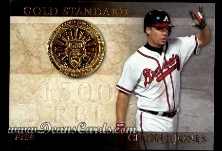 2012 Topps Gold Standard Inserts #21 GS  -  Chipper Jones 1,500 RBI Club