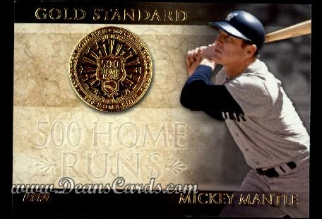 2012 Topps Gold Standard Inserts #24 GS  -  Mickey Mantle 500 Home Runs