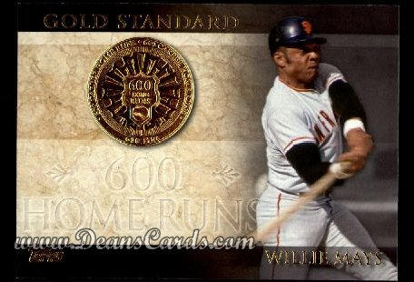 2012 Topps Gold Standard Inserts #25 GS  -  Willie Mays 600 Home Runs