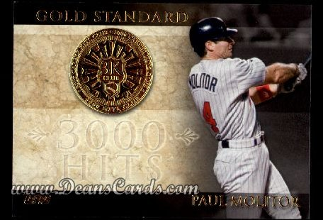 2012 Topps Gold Standard #3 GS  -  Paul Molitor 3,000 Hit Club
