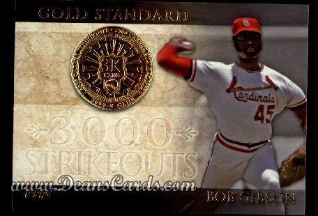 2012 Topps Gold Standard Inserts #5 GS  -  Bob Gibson 3,000 K Club