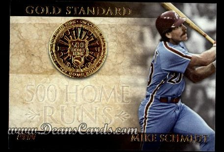 2012 Topps Gold Standard Inserts #6 GS  -  Mike Schmidt 500 Home Runs