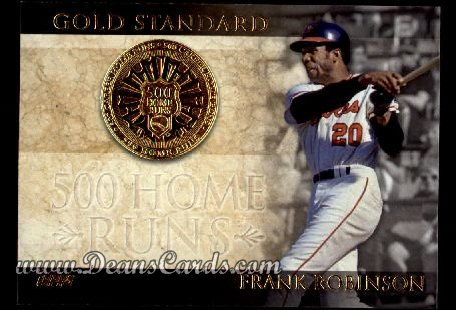 2012 Topps Gold Standard Inserts #7 GS  -  Frank Robinson 500 Home Runs