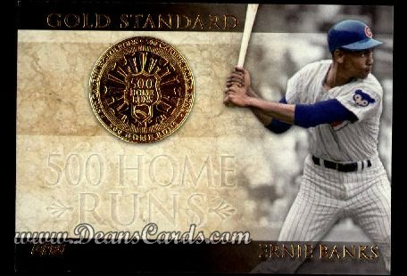 2012 Topps Gold Standard Inserts #8 GS  -  Ernie Banks 500 Home Runs