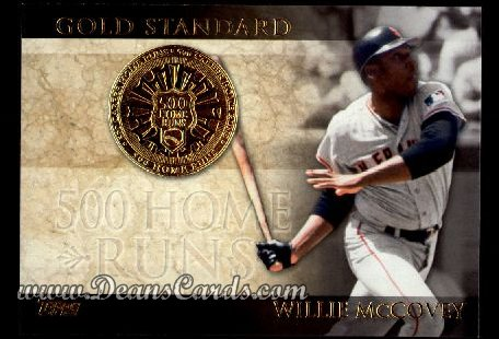 2012 Topps Gold Standard Inserts #9 GS  -  Willie McCovey 500 Home Runs