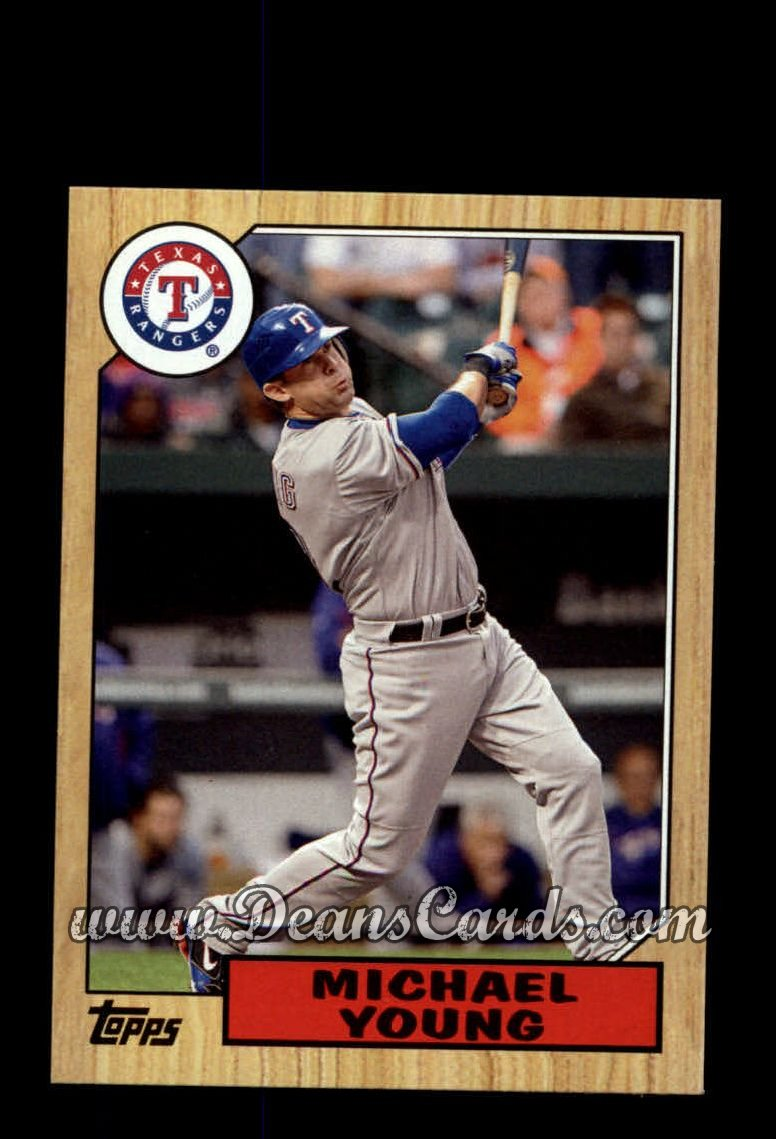 2012 Topps 1987 Minis #4  Michael Young