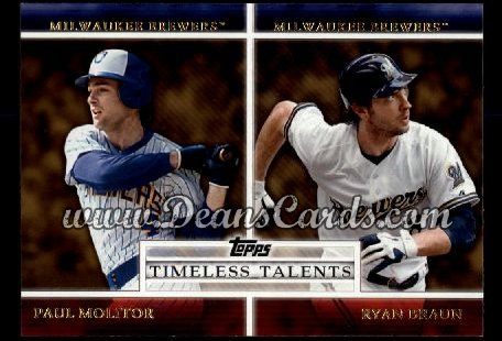 2012 Topps Timeless Talents Inserts #1 TT  -  Paul Molitor / Ryan Braun Timeless Talents