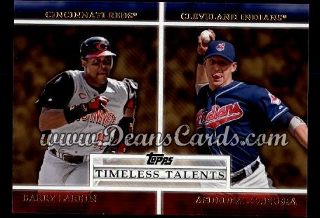 2012 Topps Timeless Talents Inserts #13 TT  -  Barry Larkin / Asdrubal Cabrera Timeless Talents