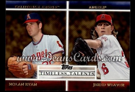 2012 Topps Timeless Talents Inserts #14 TT  -  Nolan Ryan / Jered Weaver Timeless Talents