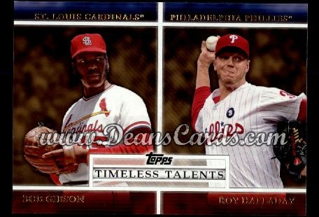 2012 Topps Timeless Talents #15 TT  -  Bob Gibson / Roy Halladay Timeless Talents