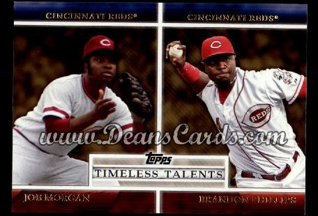 2012 Topps Timeless Talents #17 TT  -  Joe Morgan / Brandon Phillips Timeless Talents