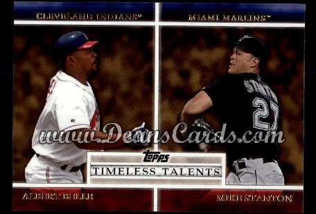 2012 Topps Timeless Talents Inserts #18 TT  -  Albert Belle / Mike Stanton Timeless Talents