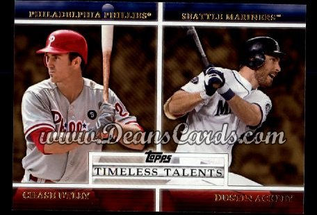2012 Topps Timeless Talents #2 TT  -  Chase Utley / Dustin Ackley Timeless Talents