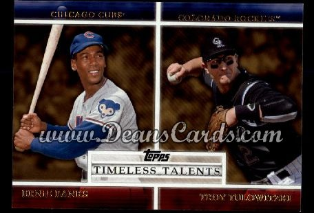 2012 Topps Timeless Talents #20 TT  -  Ernie Banks / Troy Tulowitzki Timeless Talents