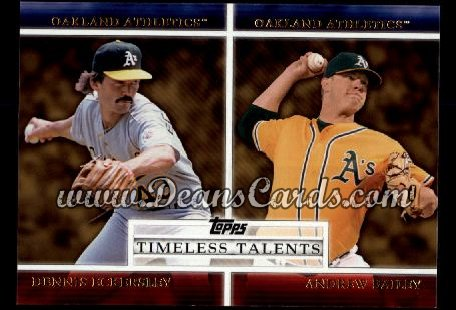 2012 Topps Timeless Talents Inserts #21 TT  -  Dennis Eckersley / Andrew Bailey Timeless Talents